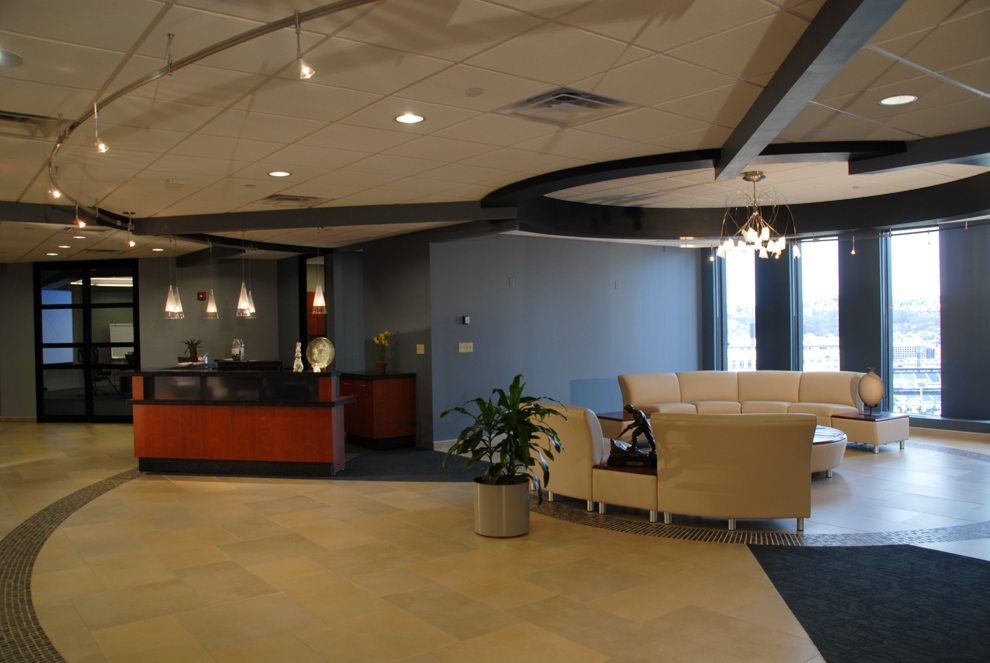 The new North American Headquarters for Carmeuse Lime and Stone include open office staff areas, private executive offices, employee break, and training areas, conference rooms and a corporate boardroom.